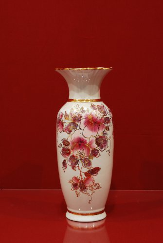 2044 Ваза Альпийский луг Мерцающий букет Коллекции-Мерцающий букет-розовый-270мм-1651-Ф