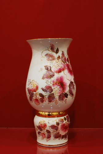 2083 Ваза Мэри Мерцающий букет Коллекции-Мерцающий букет-розовый-340мм-3216-Ф