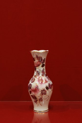 2100 Ваза Родник Мерцающий букет Коллекции-Мерцающий букет-розовый-200мм-535-Ф