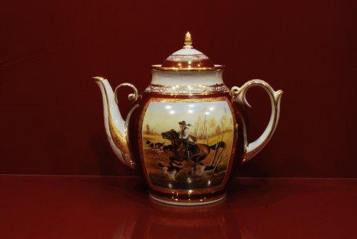 Чайник Праздничный h260 на 3 литра (Охота) масло