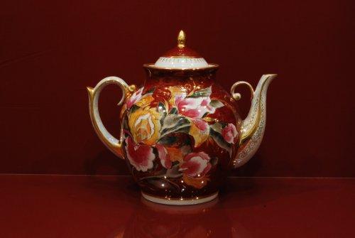 Чайник Праздничный на 3 литра h260 (Ирисы на бордо)