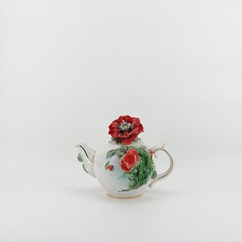 "Чайник ""Маки лепка""(мини)"