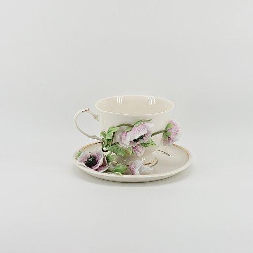 """Чайная пара """"Маки розовые"""""""