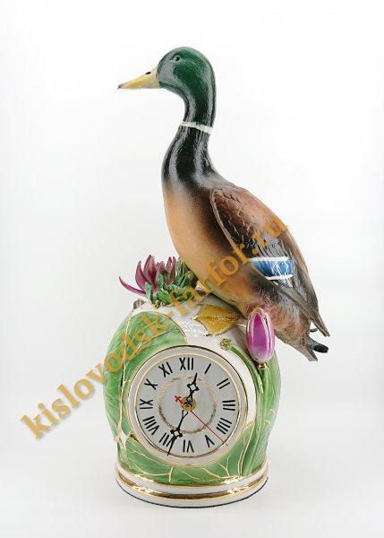 "Скульптура часы ""Селезень"""