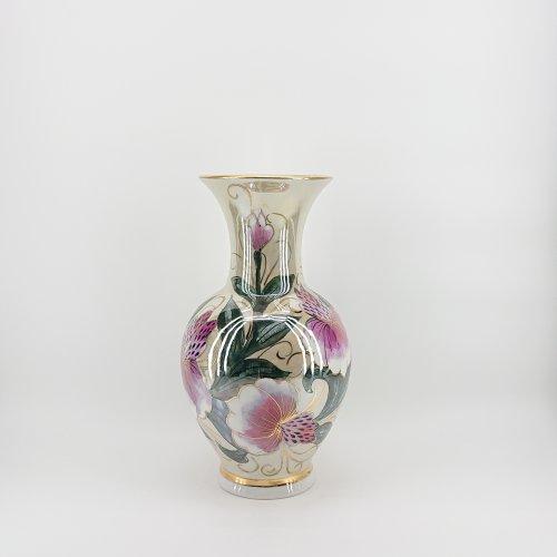 """Ваза """"Мэри""""  Коллекция """"Тигровые орхидеи на бежевом люстре"""""""