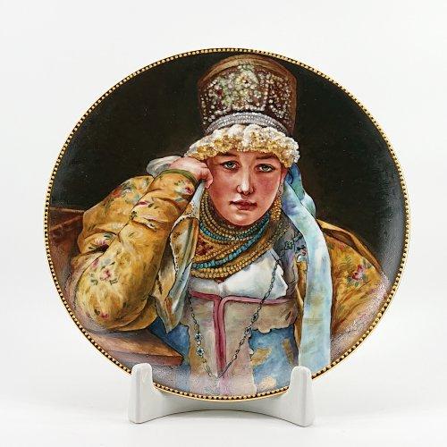 "Тарель ""Купчиха"" Живопись"