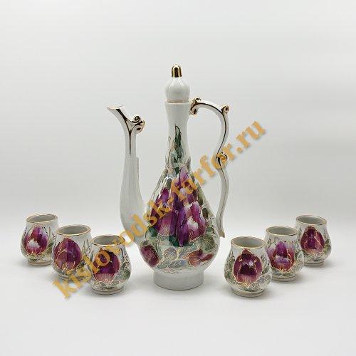 """Коньячный набор  Коллекция """"Тюльпаны на бисквите"""""""