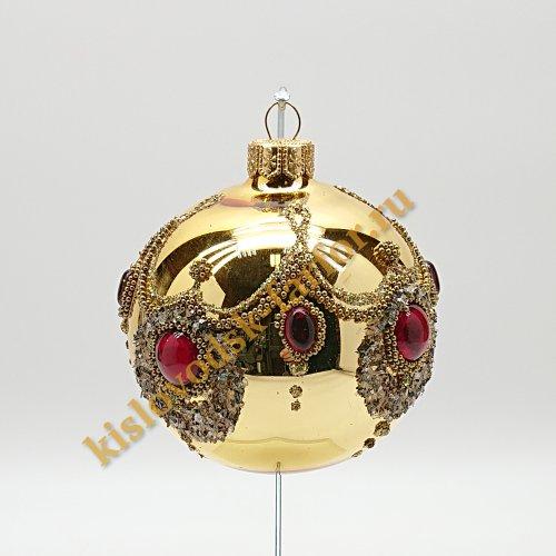 Шар с кристаллами золотой