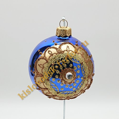 Шар с кристаллом синий