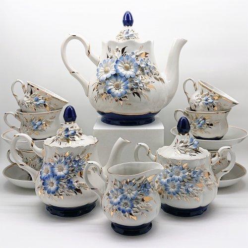 """Сервиз чайный """"Полевые цветы"""" лепка"""