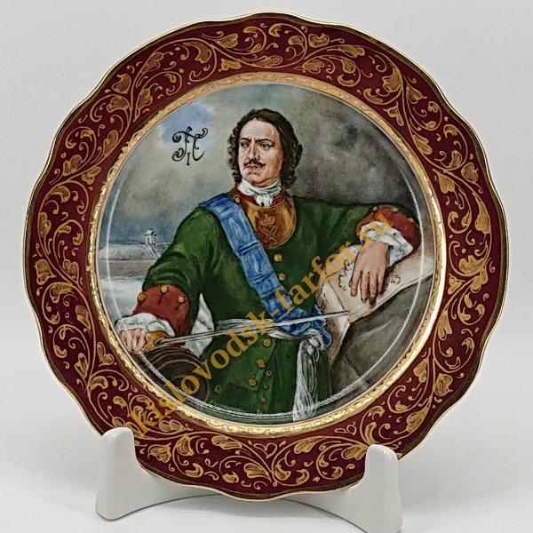 """Тарель малая живопись """"Портрет Петра I"""""""