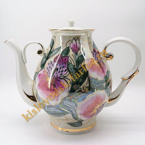 """Чайник """"Восточный"""" Коллекция """"Тигровые орхидеи на бежевом"""""""