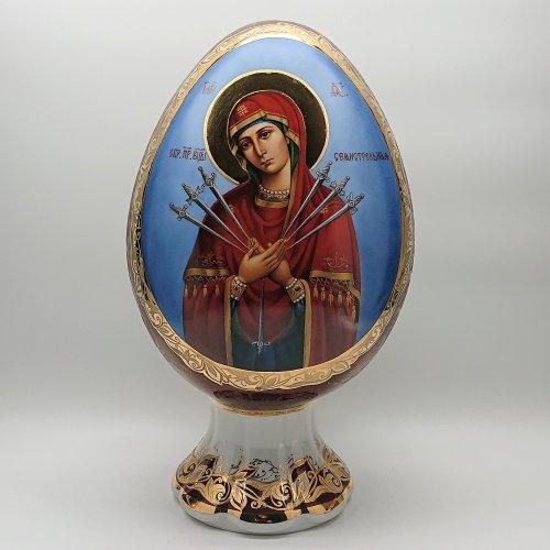 """Яйцо """"Семистрельная икона Божией матери"""""""
