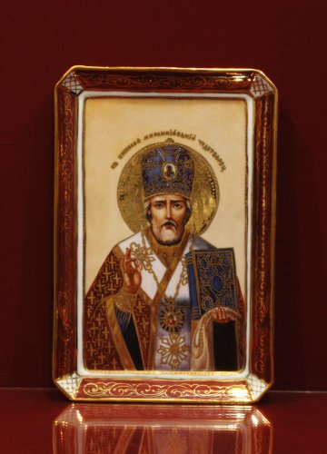 Икона Николая Чудотворца h250 вариант 2