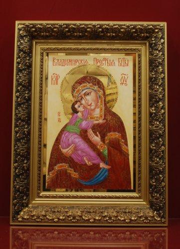 Икона в багете h600 (Владимирская Богоматерь)