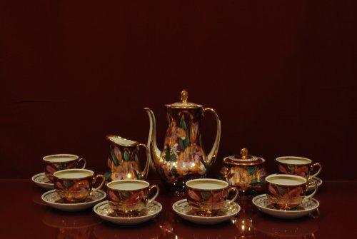 Сервиз кофейный Жасмин (коллекция Лилии на бордо)