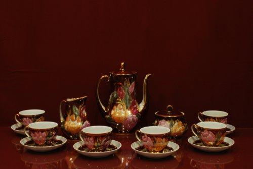 Сервиз кофейный Жасмин (коллекция Тюльпаны на бордо)