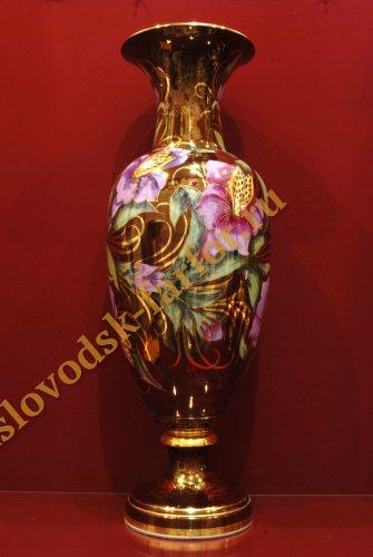 Ваза Рапсодия h770 (Тигровая орхидея на бордо)