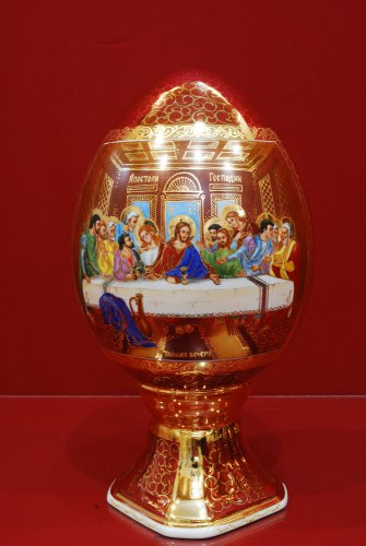 Яйцо Патриархальное 30 см Тайная вечеря