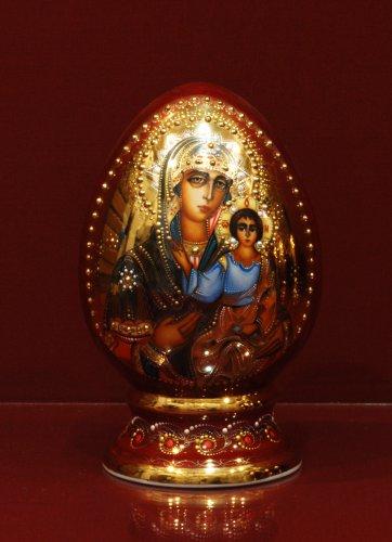 Яйцо в капельном золоте h200 (Смоленская Богоматерь)